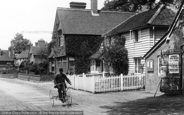 Photo of Abinger Hammer, Postman On A Tricycle 1906
