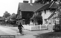 Abinger Hammer, Postman On A Tricycle 1906