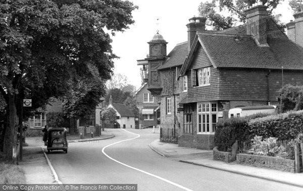 Photo of Abinger Hammer, the Village c1955
