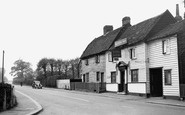 Abridge, Main Road and the Maltsters' Arms c1955