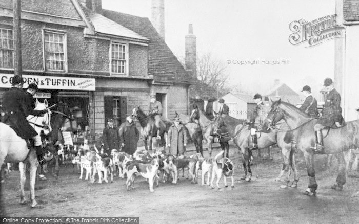 Photo of Abridge, Post Office And The Essex Hounds c.1915