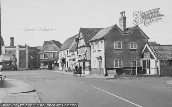 Photo of Abridge, Shops By The Market Place c.1960