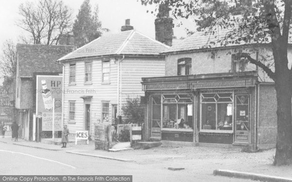 Photo of Abridge, Shops c.1955
