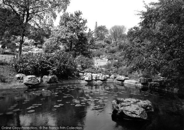 Photo of Accrington, Rock Gardens, Oak Hill Park c.1955
