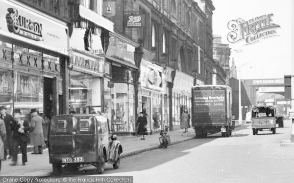 Accrington, Shops On Blackburn Road C.1955