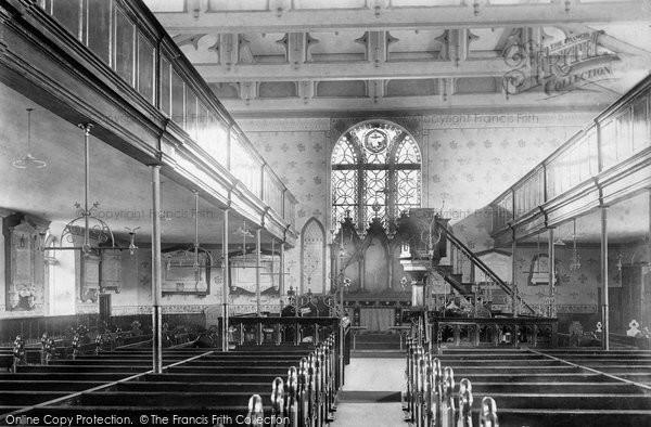 Photo of Accrington, St James's Church Interior 1897