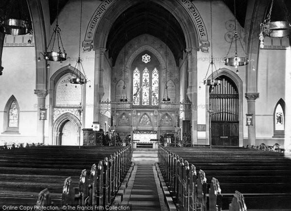 Photo of Accrington, St John's Church, Interior c.1945