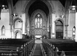 St John's Church, Interior c.1945, Accrington