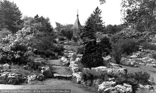 Photo of Accrington, The Rock Gardens, Oak Hill Park c.1955