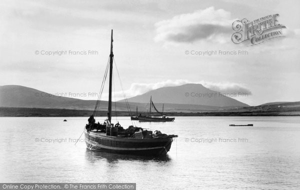 Photo of Achill Island, Slievemore In The Evening c.1955