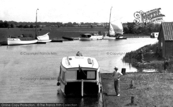 Photo of Acle, Boats Near Acle Bridge c.1929