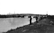 Acle, Fishing At The Bridge c.1929