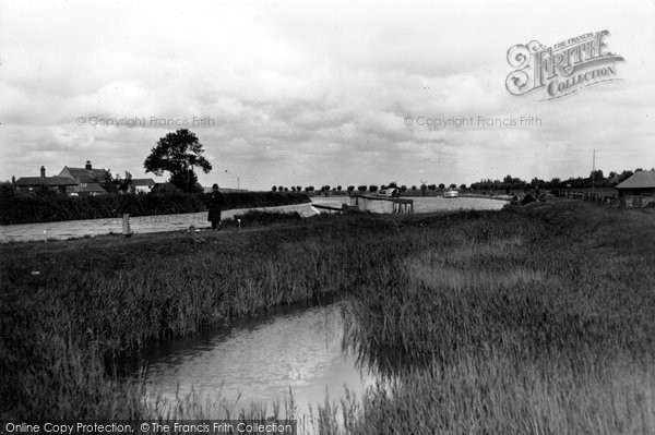 Photo of Acle, Fishing At The Bridge c.1930