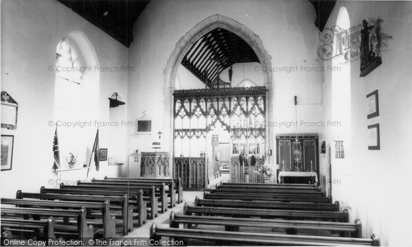 Photo of Acle, interior of the Church c1955