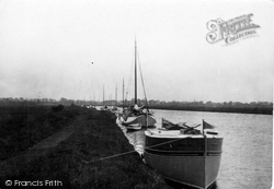 Acle, Lying To On The Bure c.1929