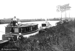 Moored For The Night c.1930, Acle