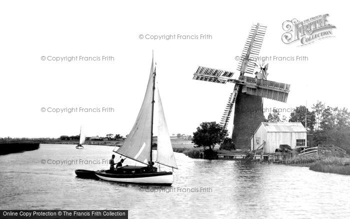 Acle,17th Century Windmill c1929,Norfolk