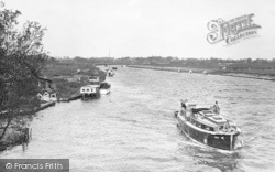 Acle, River Bure From The Bridge c.1955