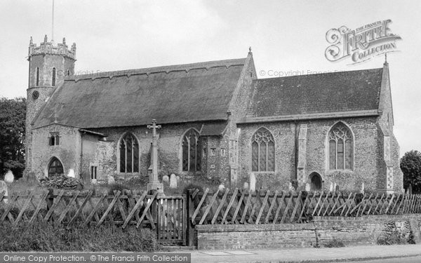 Photo of Acle, St Edmund's Church c.1955