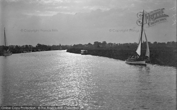 Photo of Acle, Sunset On The Bure c.1939