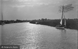 Acle, Sunset On The Bure c.1939