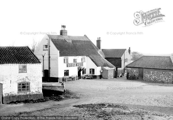 Photo of Acle, The Bridge Hotel From The Bridge c.1950