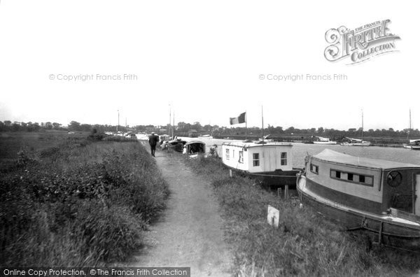 Photo of Acle, The River Bure And River Walk c.1929