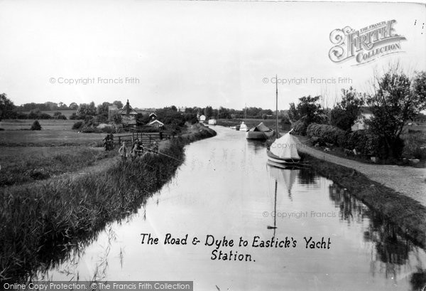 Photo of Acle, The Road And Dyke To Eastick's Yacht Station c.1929