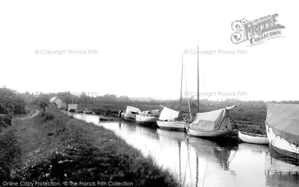 Photo of Acle, The Staithe Side c.1929