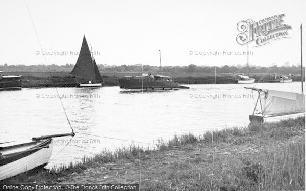 Photo of Acle, Yachting On The Bure c.1955