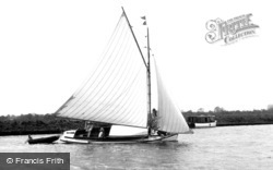 Acle, Yachting on the Bure c1955