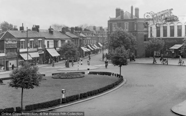 Photo of Acock's Green, The Roundabout c.1955
