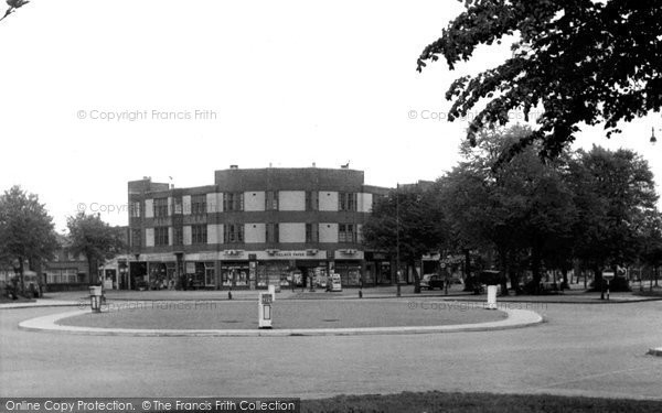 Photo of Acock's Green, The Roundabout, Olton Boulevard East c.1965