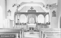 Acrefair, St Paul's Church, Interior c.1955