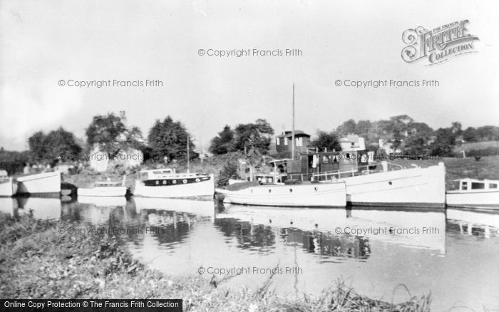 Photo of Acton Bridge, Island Cottage From The Tea Garden c.1955