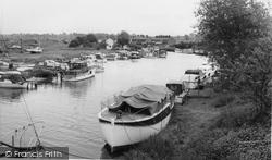 Acton Bridge, The River Weaver c.1965