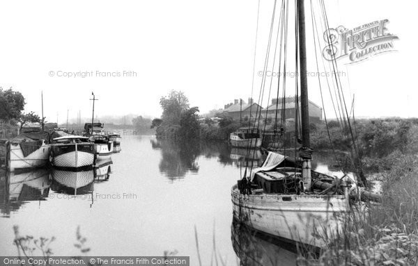 Photo of Acton Bridge, the River Weaver near Acton Swing Bridge c1955