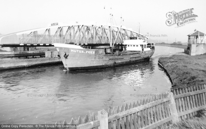Photo of Acton Bridge, The Swing Bridge c.1965