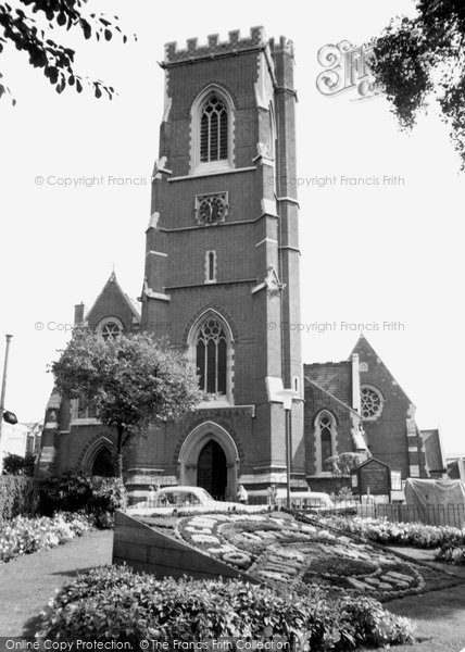 Photo of Acton, St Mary's Church c.1955