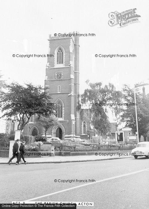 Photo of Acton, St Mary's Church c.1955