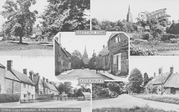 Photo of Adderbury, Composite c.1955