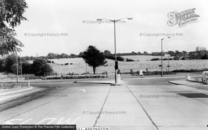Photo of Addington, Gravel Hill Roundabout c.1965
