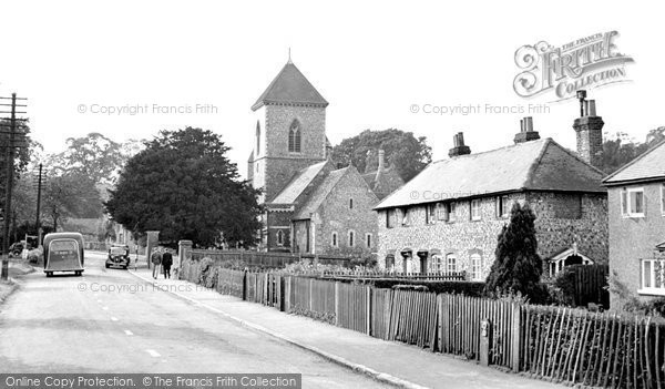 Photo of Addington, Old Village And St Mary's Church c.1950