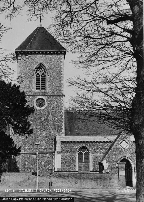 Photo of Addington, St Mary's Church c.1950