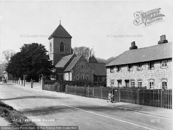 Photo of Addington, The Village And St Mary's Church c.1950