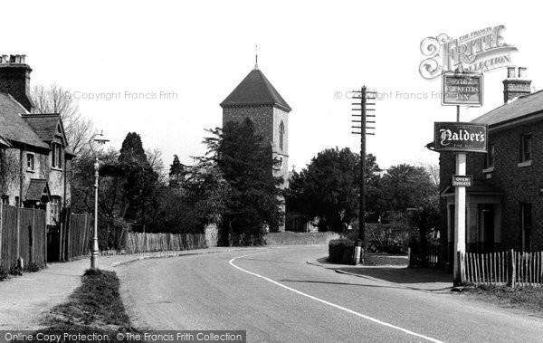 Photo of Addington, The Village And St Mary's Church c.1950