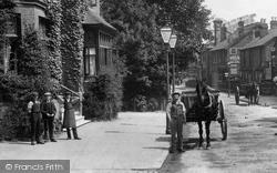 Addlestone, Boys In Station Road 1904