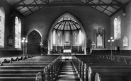 Addlestone, Church Interior 1906