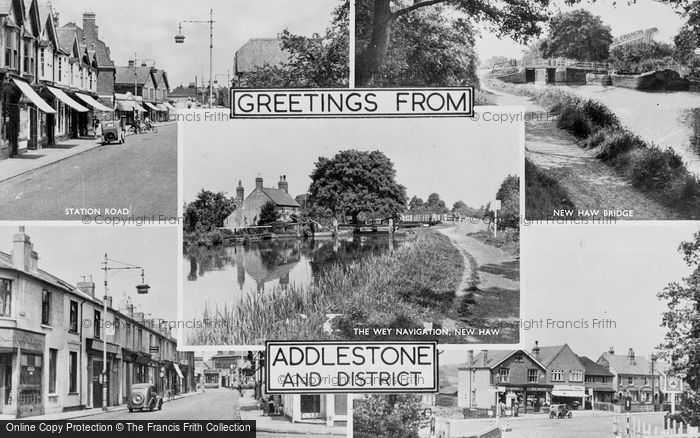 Photo of Addlestone, Composite c.1955