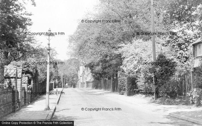 Photo of Addlestone, Crouch Oak Lane c.1955